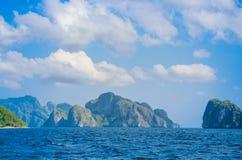 Beautiful rocky islands around El Nido, Philippines Royalty Free Stock Photos