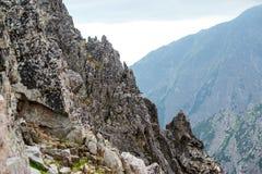 Rocky mountain landscape in High Tatry. Beautiful rocky mountain landscape in High Tatry stock images
