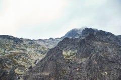 Rocky mountain landscape in High Tatry. Beautiful rocky mountain landscape in High Tatry stock photos
