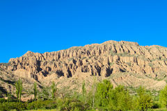 Beautiful rocky mountain in Tilcara, Argentina Royalty Free Stock Photo