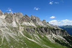 Beautiful rocky mountains view stock image