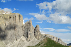 Beautiful rocky peaks of Dolomites Stock Image