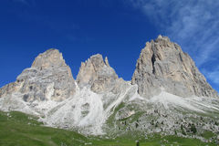 Beautiful rocky peaks Violet Towers Stock Image