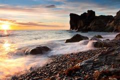 Beautiful rocky sea beach Stock Photos