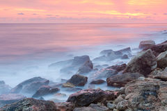 Beautiful rocky sea beach Royalty Free Stock Photos