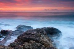 Beautiful rocky sea beach Stock Images