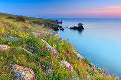 Beautiful rocky sea coast Stock Images