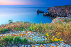Beautiful rocky sea coast Royalty Free Stock Photo
