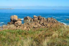 Beautiful rocky sea coast royalty free stock images