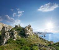Beautiful rocky sea coast Stock Photo