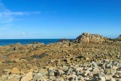 Beautiful rocky sea island Stock Image