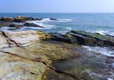 Beautiful rocky sea shore Stock Image