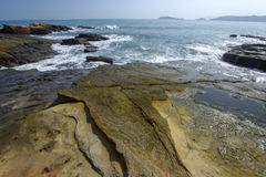 Beautiful rocky sea shore Royalty Free Stock Image