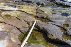 Beautiful rocky sea shore Royalty Free Stock Photos