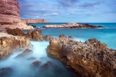 Beautiful rocky seaside Stock Images