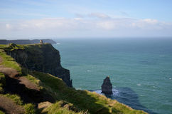 Beautiful Rocky Towering Sea Cliffs Along the Cliff`s of Moher Stock Photos