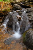 Beautiful Rocky Waterfall. Rocky Waterfall Photographed with Long Exposure Technique Royalty Free Stock Image