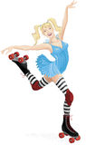 Beautiful roller skater Stock Image