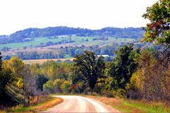 Beautiful Rolling Hill and Farm Land stock photography
