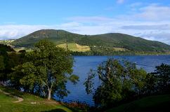 Beautiful Rolling Hills Surrounding Loch Ness in Scotland Royalty Free Stock Images