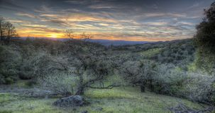 Sunset Landscape. Sonoma County, California. stock footage
