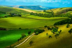 Beautiful Rolling Sussex countryside Royalty Free Stock Photos