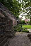 Beautiful Roman Garden in Chester the county city of Cheshire in England stock image