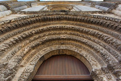 Beautiful romanesque archivolts Stock Photography