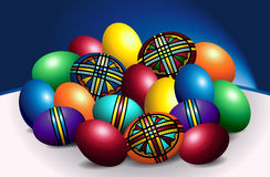 Beautiful Romanian Colored Easter Eggs Stock Photography