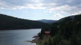 Beautiful Romanian lake stock video