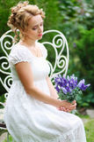 Beautiful romanitic woman Royalty Free Stock Image