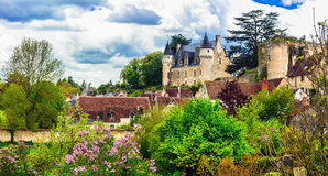Beautiful romantic castles of Loire valley - Montresor chateau. Royalty Free Stock Photo