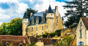 Beautiful romantic castles of Loire valley - Montresor chateau. Royalty Free Stock Images
