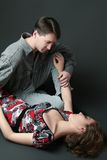 Beautiful romantic couple. Man and woman. Portrait of beautiful romantic couple Royalty Free Stock Images