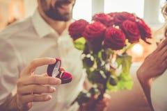 Beautiful romantic couple Stock Image