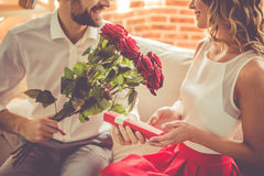 Beautiful romantic couple Stock Images