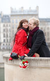Beautiful romantic couple having a date Royalty Free Stock Images