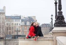 Beautiful romantic couple having a date Stock Photo