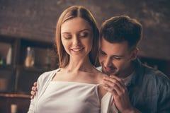 Beautiful romantic couple stock photography
