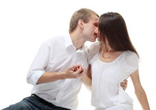 Beautiful romantic couple in love Stock Photography