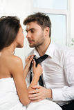 Beautiful romantic couple of lovers Royalty Free Stock Photos