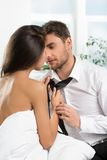 Beautiful romantic couple of lovers Stock Images