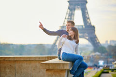 Beautiful romantic couple in Paris Stock Image