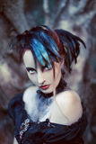 Beautiful, romantic gothic styled woman stock images