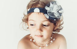 Beautiful romantic little girl Royalty Free Stock Images