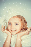 Beautiful romantic little girl Stock Photos