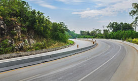 Beautiful romantic mountain route in Thailand Curve of road Stock Photo