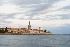 Beautiful romantic old town of Porec,Istrian Peninsula,Croatia,Europe. Beautiful romantic old town of Porec, Istrian Peninsula, Croatia, Europe. Town made out of royalty free stock photo