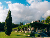 Beautiful romantic outdoor view with old luxury Villa Milocer Ho Stock Photography