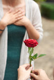 Beautiful Romantic Proposal Royalty Free Stock Photo
